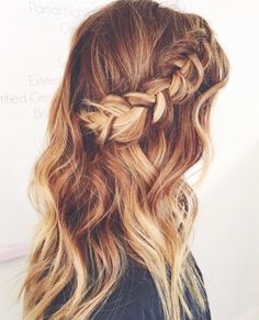 braided half up half down ~ we ❤ this! moncheriprom.com