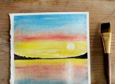 Simple Steps on How to Paint a Sunset with Watercolors