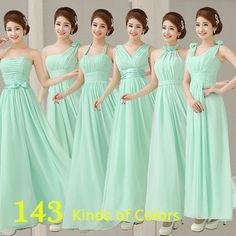 MODELOS DE VESTIDOS PARA DAMA DE HONRA Mint- vestidos de festa longos vestidos formais Chiffon luz verd