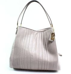 Coach New Birch Gray Gold Madison Small Phoebe Shoulder Bags Pleated Leather Cheap $378  http://www.ashpants.com/cheap-coach-bags