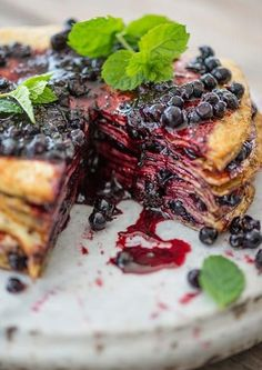 BLUEBERRY JAM MILLE CREPE