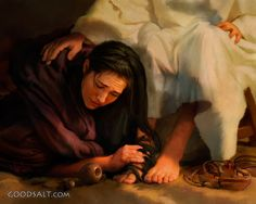 Order Framed Print of Mary Washing Jesus' Feet With Her Tears Jesus Christ Images, Jesus Art, God Jesus, Christian Warrior, Christian Art, Catholic Art, Religious Art, Jesus Drawings, Bible Photos