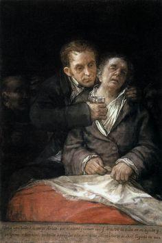 Self-Portrait with Doctor Arrieta by Francisco Goya