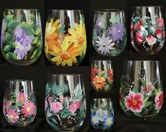 Painted drinking glasses = Copos pintados