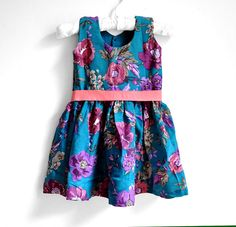 Baby Dress  Baby Girl Dress  Size 2T  3T  Peacock by PaisleyMagic, $34.99