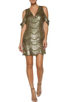 Shop on-sale W118 by Walter Baker Marika cutout sequined crepe de chine  mini dress. Browse other discount designer Dresses & more on The Most Fashionable Fashion Outlet, THE OUTNET.COM