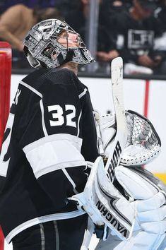 LOS ANGELES, CA - APRIL 15: Jonathan Quick #32 of the Los Angeles Kings looks on in Game Three of the Western Conference First Round during the 2018 NHL Stanley Cup Playoffs at STAPLES Center on April 15, 2018 in Los Angeles, California. (Photo by Andrew D. Bernstein/NHLI via Getty Images)