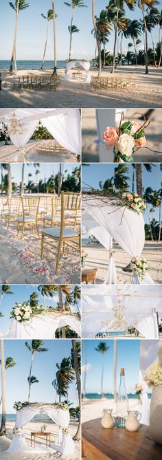 beach ceremony details jellyfish punta cana
