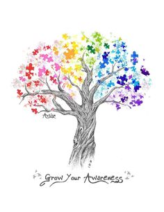 Beautiful autism awareness logo made by Zach Welch for the Virtuous Women Charity