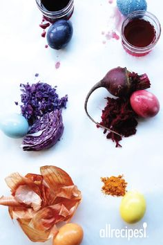 If you're turned off by the chemicals in store-bought Easter egg dye, try these six all-natural options. Each features a coloring agent—a vegetable, fruit juice, or spice—that gives color to hard-boiled eggs.