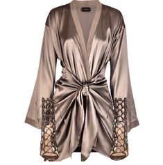 La Perla Satin silk-blend robe and other apparel, accessories and trends. Browse and shop related looks. Classy Outfits, Chic Outfits, Sexy Outfits, Fashion Outfits, Womens Fashion, Fasion, Satin Dressing Gown, Vetement Fashion, Mode Outfits