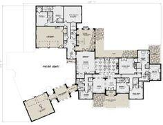 European Plan: 5,695 Square Feet, 5 Bedrooms, 6 Bathrooms - 8318-00082 European Plan, Barndominium Floor Plans, Plumbing, Square Feet, Home Projects, House Plans, New Homes, Flooring, How To Plan