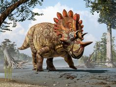 Art by Julius T. Csotonyi. Courtesy of Royal Tyrrell Museum, Drumheller, Alberta.