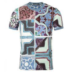 Dolce & Gabbana Multicoloured Cotton Printed T-Shirt
