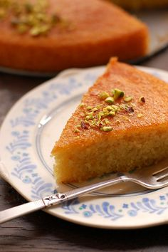 flower recipe sweet semolina cake with lemon rosewater basboosa page ...