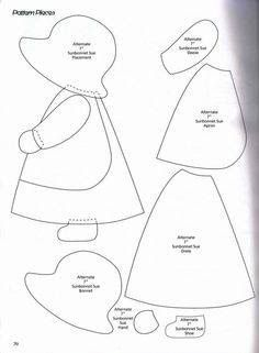 Classic Sunbonnet Sue and looks great to use for quilting or a crazy pillow. Classic Sunbonnet Sue and looks great to use for quilting or a crazy pillow. Free Applique Patterns, Applique Templates, Patchwork Patterns, Sewing Appliques, Quilt Block Patterns, Applique Quilts, Applique Designs, Quilting Designs, Quilt Blocks