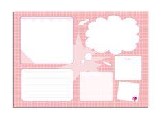 To-Do-Blöcke - Schreibtischunterlage A3 Kinder rosa millimi - ein Designerstück von millimi bei DaWanda