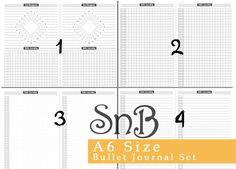 SnB A6   Bullet Journal set  Printable Inserts by MarsiaBramucci