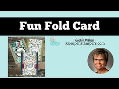 Fun Fold Card Using Share What You Love Designer Series Paper - YouTube