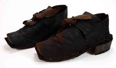 Men's shoes, late 17th - early 18th century, German.