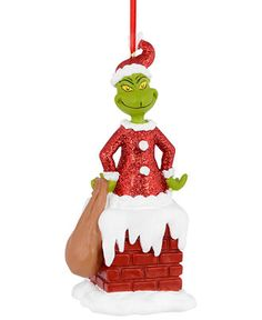 Department 56 Grinch Village Grinch in Chimney Ornament - Christmas Ornaments - Holiday Lane - Macy's