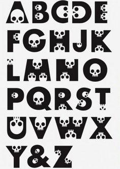 halloween alphabet #typography #skulls