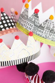 Coronas de papel para imprimir // The House That Lars Built.: Printable paper crowns