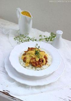 Kurczak w sosie brzoskwiniowo musztardowym