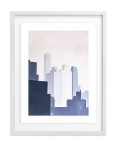 """""""View from York Ave."""" - Art Print by jinseikou in beautiful frame options and a variety of sizes."""