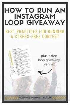 Instagram Tips | Instagram Loop Giveaway | Instagram Marketing