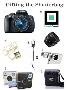 Shutterbug, Gift Guide, Holidays // Impossibly Imperfect // Photography gifts