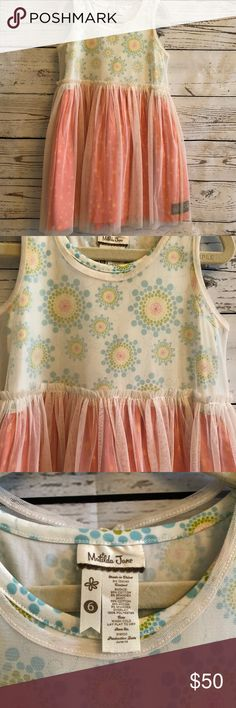 Matilda Jane dress Matilda Jane tulle overlay dress. Tulle layer can be removed. Like new condition. Matilda Jane Dresses