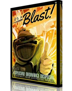 "Share Squadron Posters for a 10% off coupon! EOD – Explosive Ordnance Disposal Print ""It's a Blast!"" #http://www.pinterest.com/squadronposters/"
