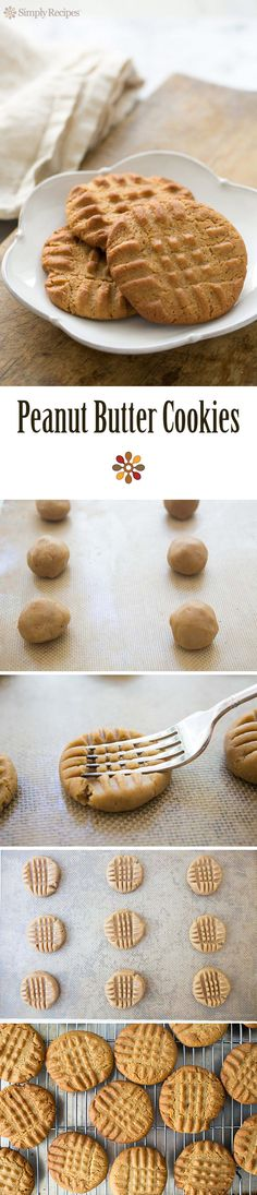 Best Peanut Butter Cookies EVER! Easy to make classic peanut butter cookie reci - carmen brownie Classic Peanut Butter Cookie Recipe, Homemade Peanut Butter Cookies, Cookie Recipes, Dessert Recipes, Bar Recipes, Easter Recipes, Recipes Dinner, Graham, Biscuits