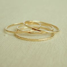 FINALLY...hammered stacking gold rings that I can afford! Will be ordering these soon!