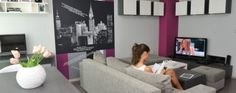 Tiny Apartment in Sofia With Wall Graphic Details
