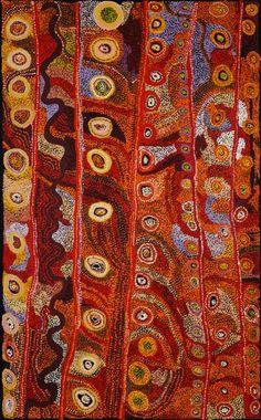 Acrylic on linen, 122 x 198 cm. Tjala Arts - Amata - APY Lands