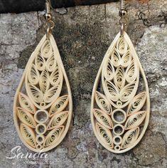 Quiled paper earrings by Sanda Dragotă