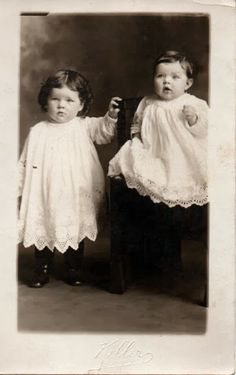 Sweet little ones in their lace trimmed gowns.  More fun copyright free photographs in the blog post.