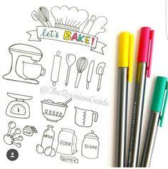 Baking drawings