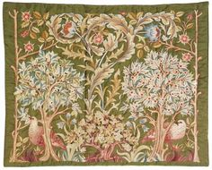 MORRIS & COMPANY, London  Britain, 1861 - 1940    MORRIS, attributed to May, designer  Britain, 1862 - 1938    attributed to Mary Isobel BARR SMITH, embroiderer  Australia, 1863 - 1941    Hanging    1890s, embroidered Adelaide, London Adelaide    silk embroidery on silk    133.0 x 169.0 cm    Mrs Mary Overton Gift Fund 1999    Art Gallery of South Australia, Adelaide