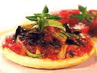 Cantinho Vegetariano: Mini Pizza com Cebola, Abobrinha e Tomate (vegana)...