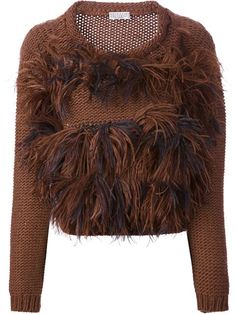 Shop Brunello Cucinelli feathered knit sweater in Stefania Mode from the world's best independent boutiques at farfetch.com. Over 1000 designers from 60 boutiques in one website.