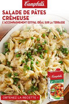 Creamy Pasta Salads, Summer Pasta Salad, Pasta Salad Recipes, Vegetarian Recipes, Cooking Recipes, Healthy Recipes, Great Recipes, Favorite Recipes, Soup And Salad