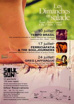 Les Dimanches en Salade @ Soul Sun Studio