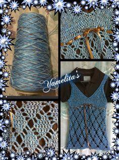 blusa a ganchillo y tricot
