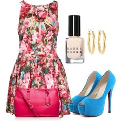 """""""floral dress outfit idea""""things to wear"""
