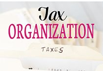 Tax organization ideas and tips for getting tax items organized.