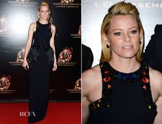 Elizabeth Banks In Alexander McQueen - 'The Hunger Games Catching Fire' Paris Premiere