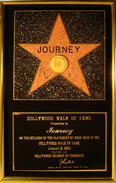 Hollywood Walk of Fame star awarded to Journey on January Rock N Roll Music, Rock And Roll, Aynsley Dunbar, Gregg Rolie, Journey Band, Neal Schon, Wheel In The Sky, Journey Steve Perry, Peter Gabriel